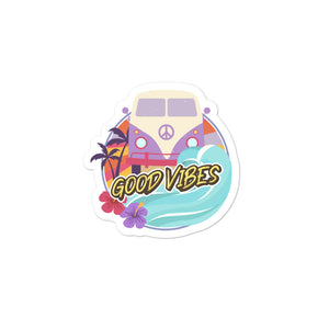 "Open image in slideshow, ""GOOD VIBES"" Bubble-free stickers"