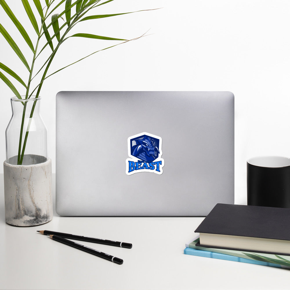 Blue Belt Beast Bubble-free stickers