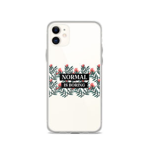 "Open image in slideshow, ""NORMAL IS BORING"" iPhone Case"
