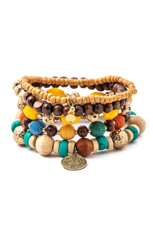 'Fall in love' boho bracelet set