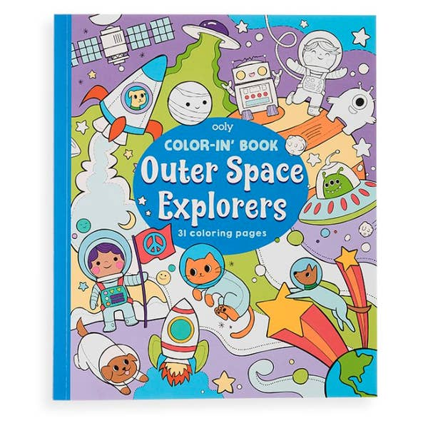 'Color-in' Book - choose from Unicorn or Outer Space!