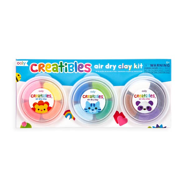 'Creatibles' DIY air dry clay kit - Set of 12