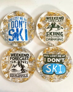Coasters - Custom ski coasters (set of 4)