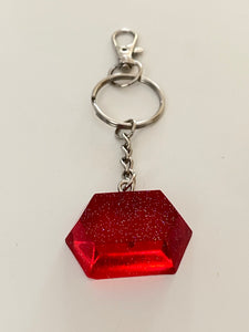 Red gemstone 💎 keychain!