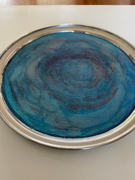 Stainless steel galaxy tray.