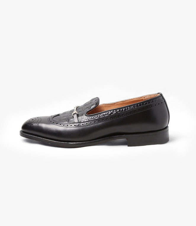 Two Tone Loafer - Black