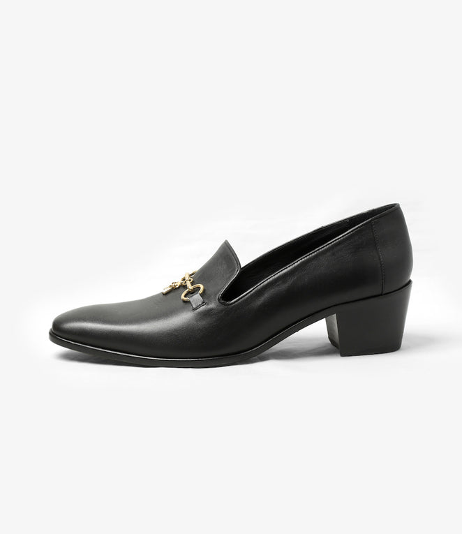 Heeled Opera Bit Vamp - Black