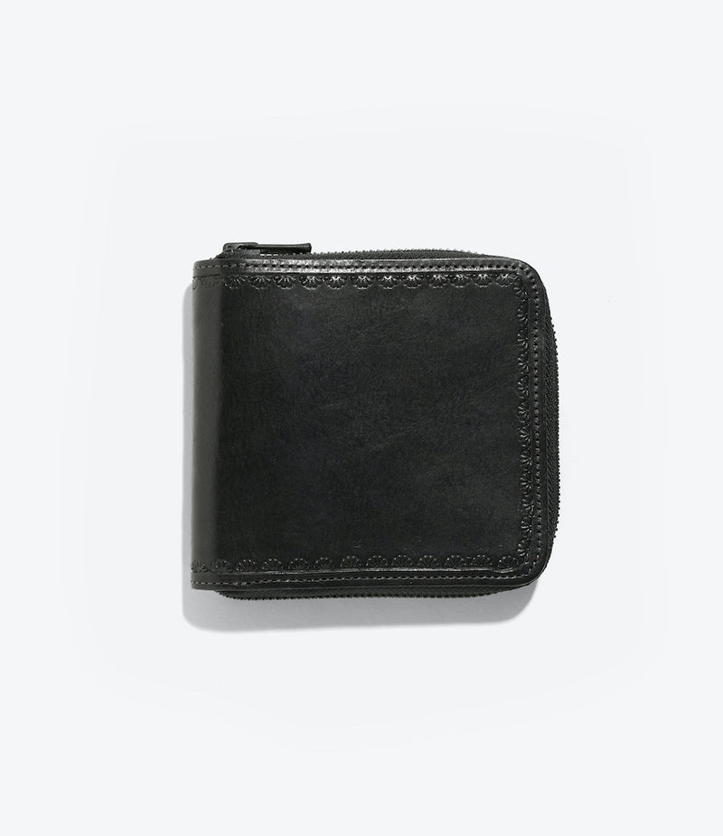 Carving Sigle Wallet - Black