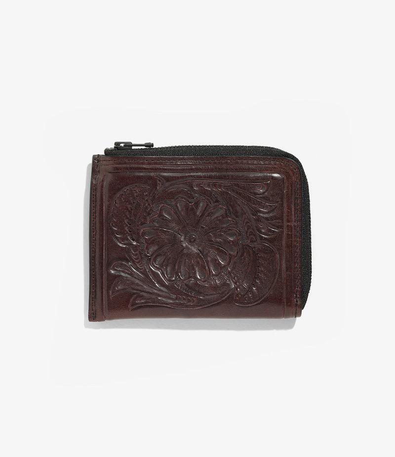 Carving Coin Case - Purple