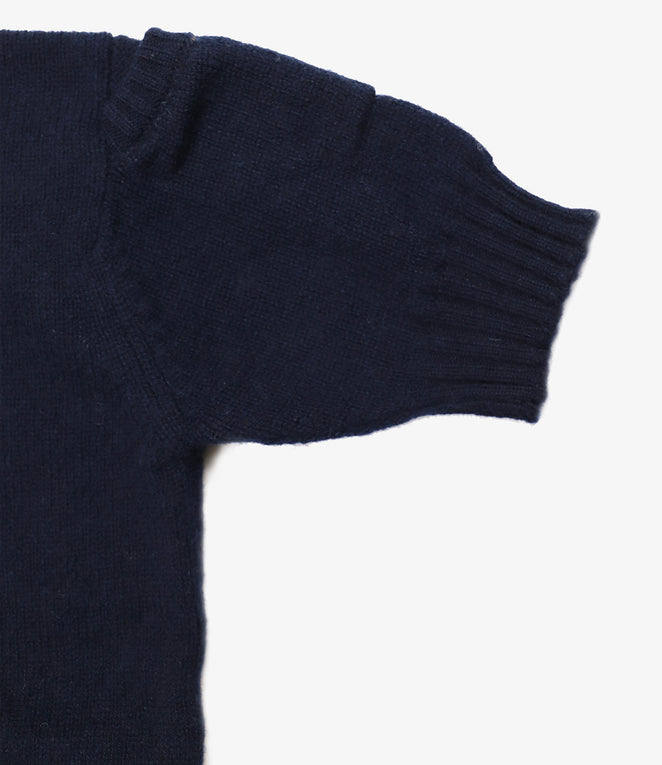 Fisherman Pocket Crew Cardigan - SS - Navy