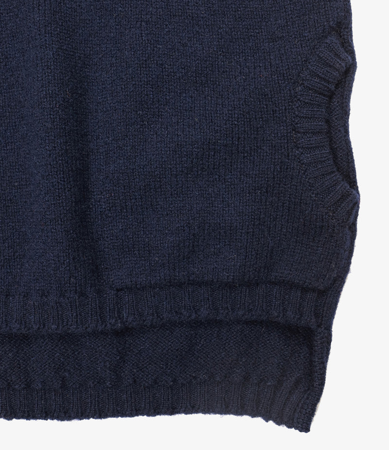 Fisherman Pocket Polo Sweater - SS - Navy