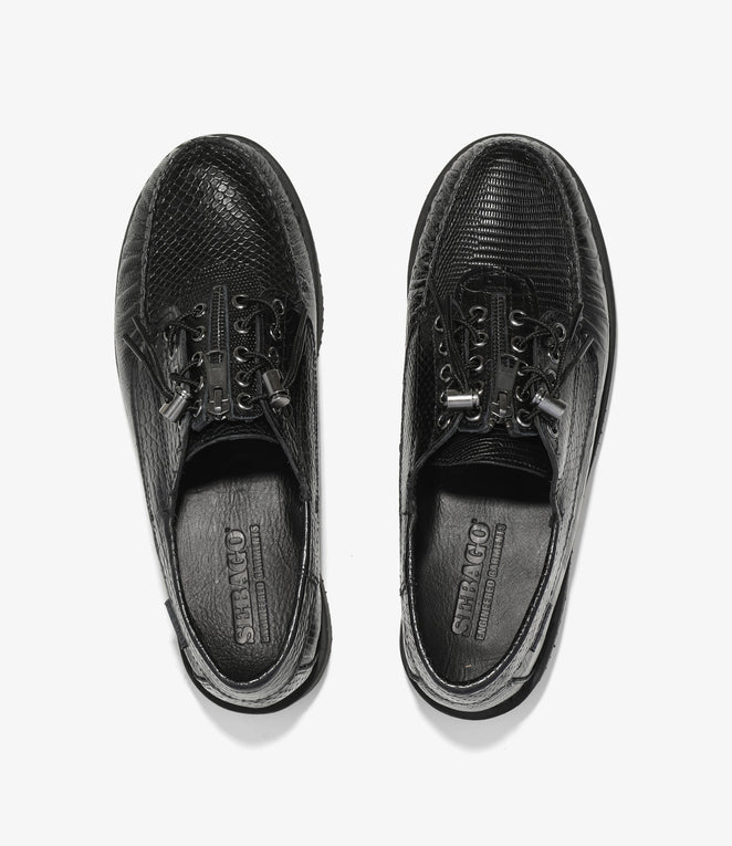 Sebago x  Engineered Garments - Zipperdeck Exotic - Black