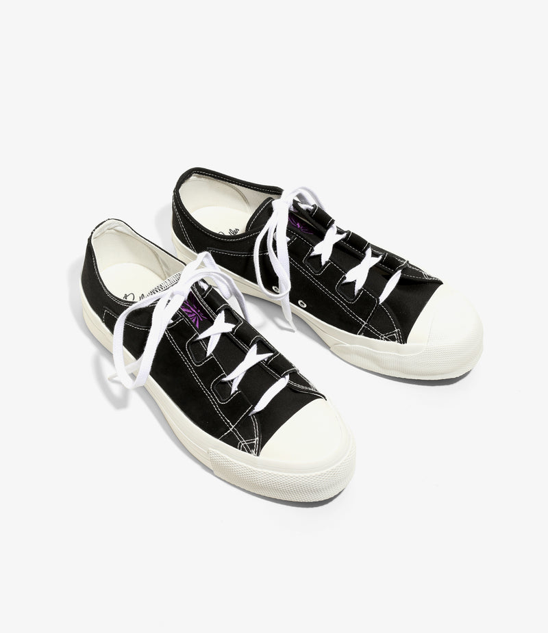 Asymmetric Ghillie Sneaker - Black