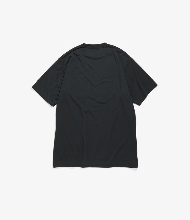 Short Sleeve Crew Neck Tee - Poly Jersey - Black