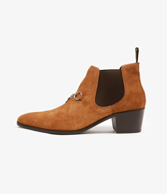 Heeled Chelsea Bit Boot - Brown