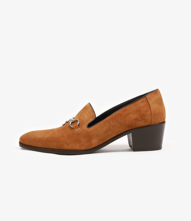Heeled Opera Bit Vamp - Brown