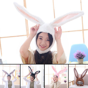 Cute Girls Hat Plush Rabbit Bunny Ears Hat Earflap Cap Head Warmer Photo Supplies