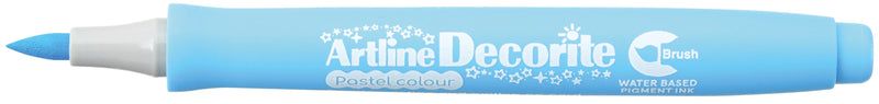Artline Decorite Brush pastel blå
