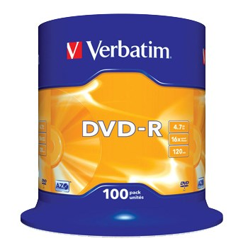 DVD-R 16x 4,7GB spindle (100)