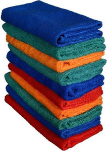 Sheen Microfiber Vehicle Washing Cloth 30x35 cm (Pack Of 10)