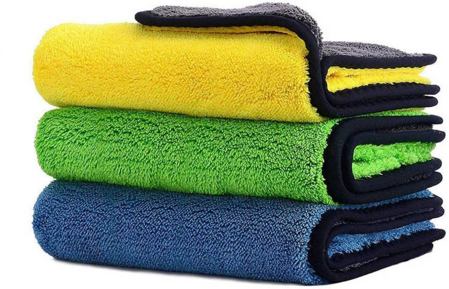 SHEEN Coral Microfiber Vehicle Washing Cloth (30x40) Pack Of 3