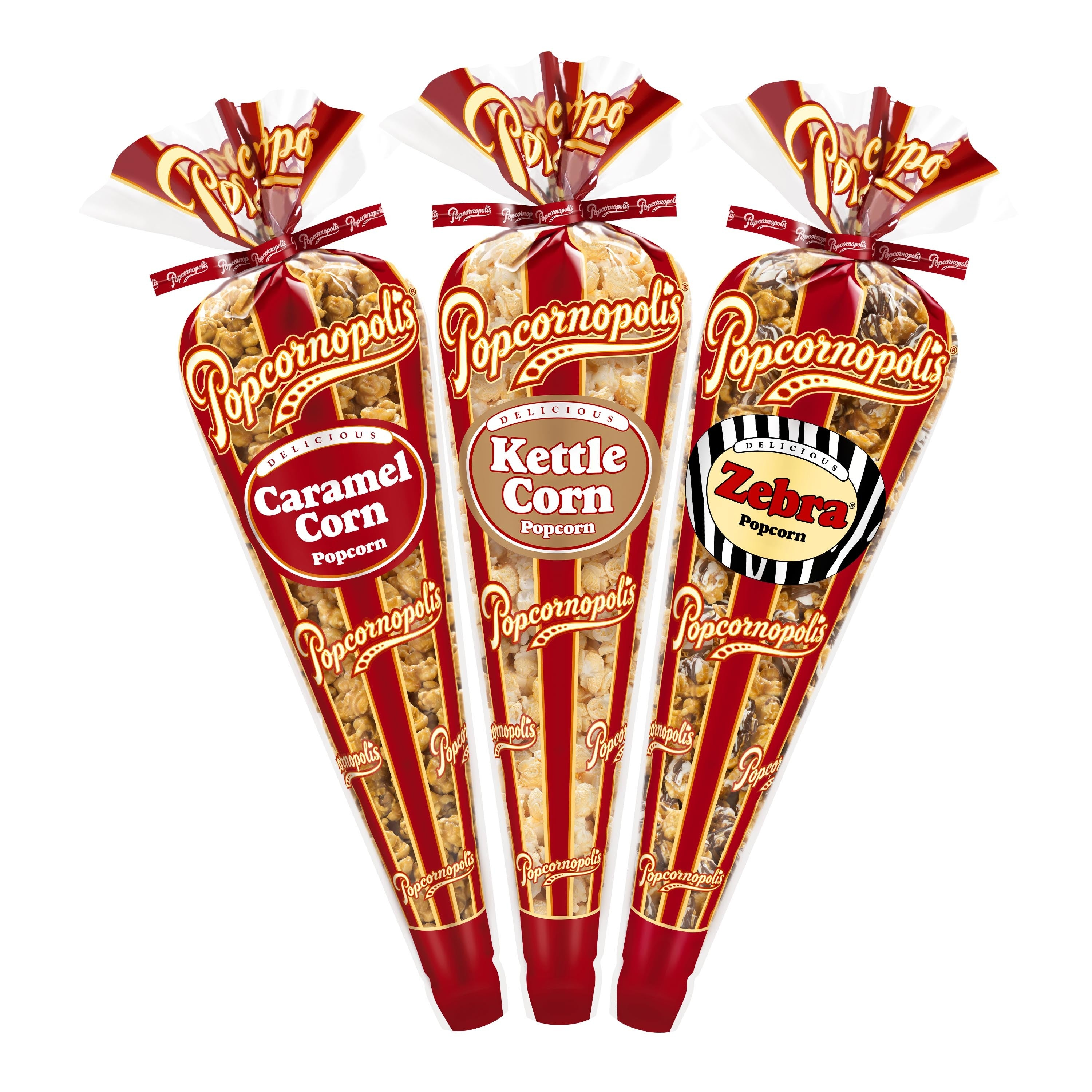 3-Cone Caramel, Zebra® and Kettle Pack