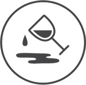 Icon: Spilling wine glass