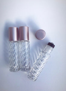 10ml Clear Glass Swirl Roller Bottle