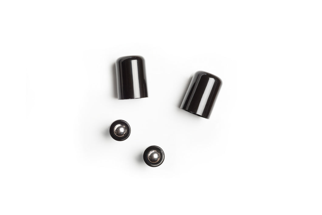 Stainless Steel Ball Insert and Black Cap