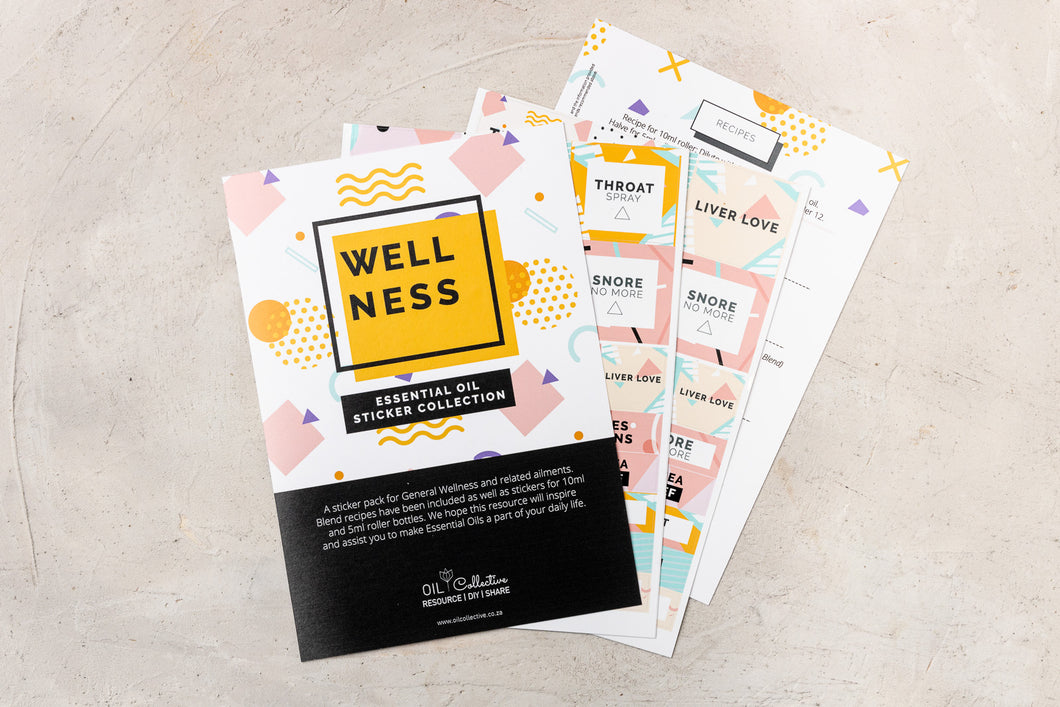 Sticker Collection for Wellness