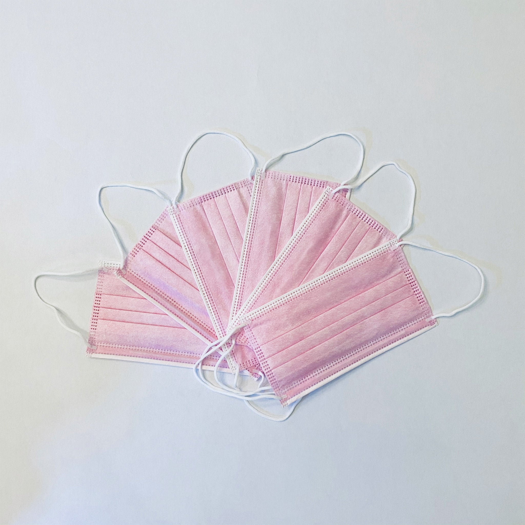 Pink 3-Ply Disposable Face Masks (50-pack)
