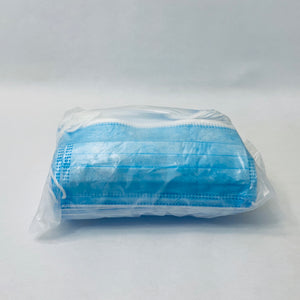 Blue 3-Ply Disposable Face Masks (50-pack)