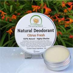 Natural Deodorant Cream - Citrus Fresh - Naturbon Online Store
