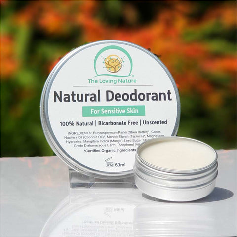 Natural Deodorant Cream For Sensitive Skin - Unscented - Naturbon Online Store