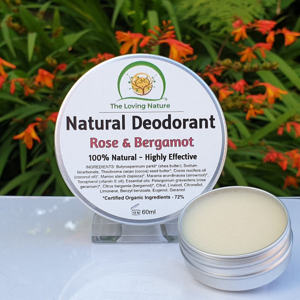 Natural Deodorant Cream - Rose & Bergamot