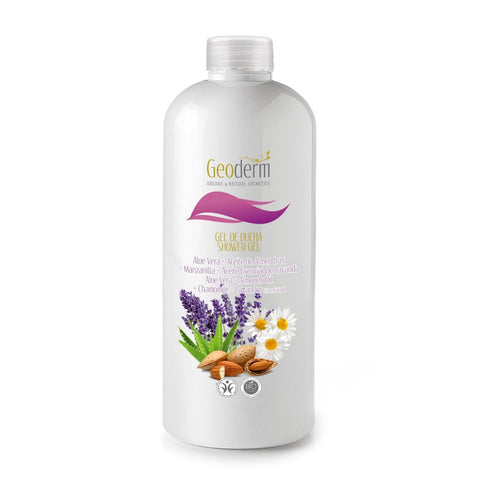 Organic & Natural Skin Pamper Shower Gel - Aloe Vera, Lavender and Almond Oils - Naturbon Online Store