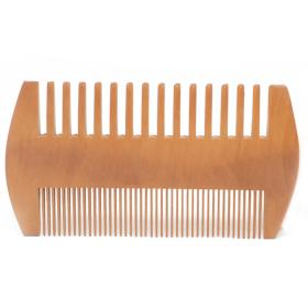 Two sided natural beard comb