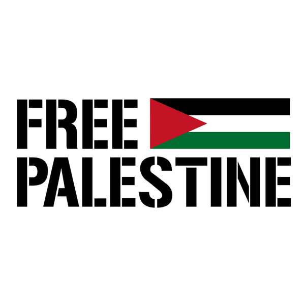 Free Palestine With Flag Sticker - P-stine