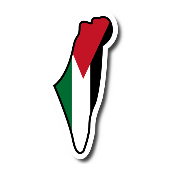 Palestine Flag in Map Sticker - P-stine
