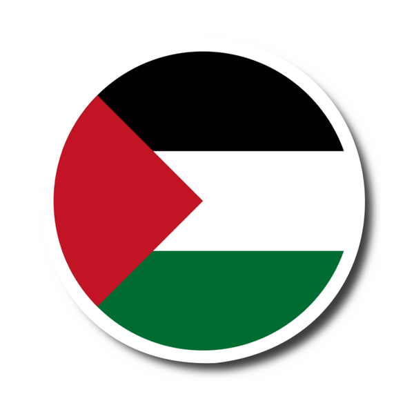 Round Palestine Flag Sticker - P-stine