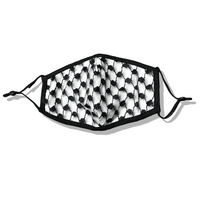 Adjustable Keffiyeh Pattern Face Mask with Filter - P-stine