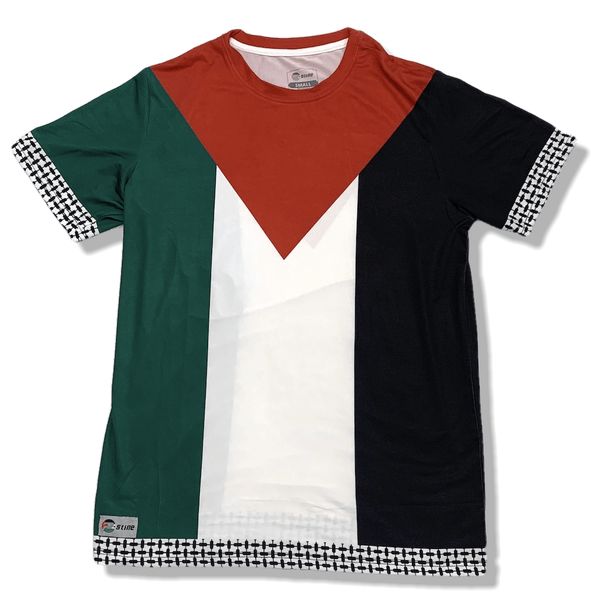 Palestine Flag Full Sublimation Short Sleeve T-Shirt - P-stine