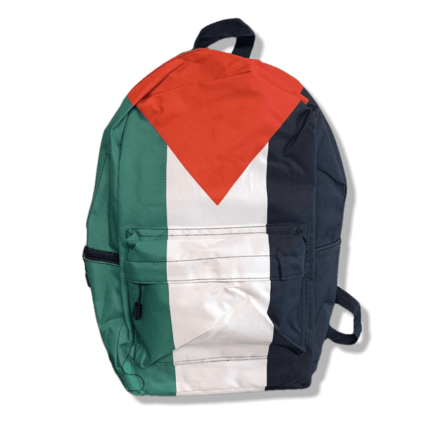 Palestine Flag Polyester Full Print Design Medium Laptop Backpack - P-stine