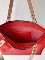 Load image into Gallery viewer, The Mia Shopper (zip closure) - Red