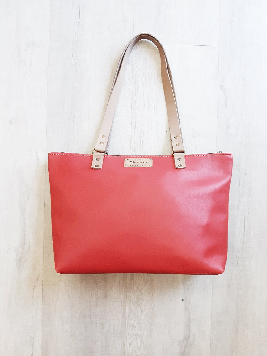 The Mia Shopper (zip closure) - Red