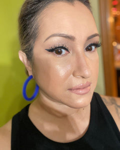 Midwest Chicana Brand Custom Earrings - Hoops for Days! Blue
