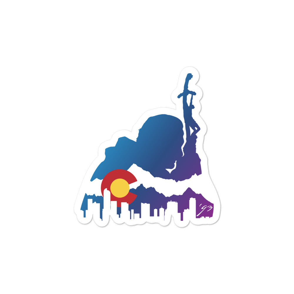 Colorado Skyline Sticker