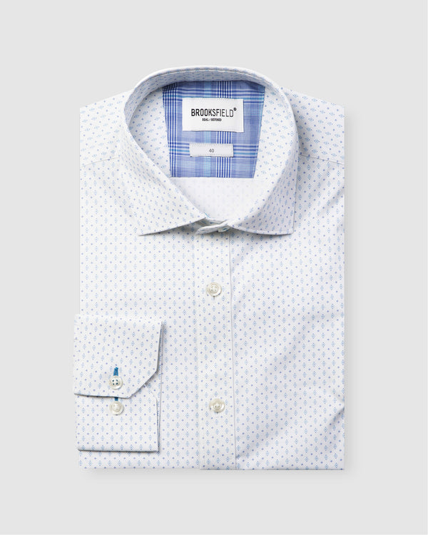 Career Abstract Dot Print Business Shirt