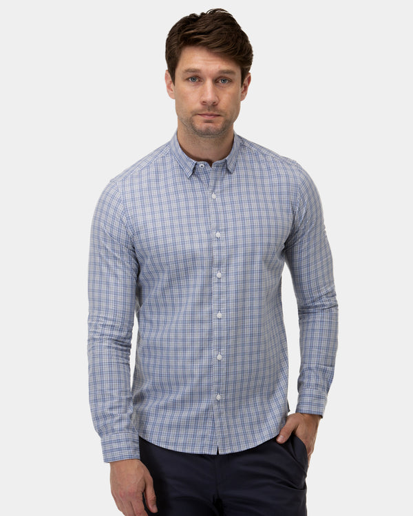 Brushed Plaid Check Casual Shirt