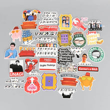 Load image into Gallery viewer, New 34pcs/lot American TV Friends Sticker Set Funny Slogan Decal For Car Laptop Cupcake Bike Fridge Guitar Waterproof Stickers